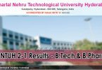 JNTUH 2-1 Results - B.Tech and Pharmacy