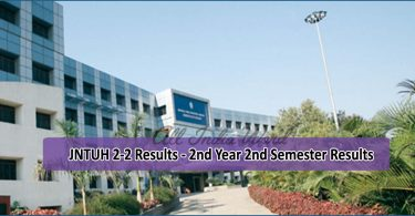 JNTUH 2-2 Results - 2nd Year 2nd Semester Results