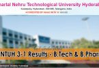 JNTUH 3-1 Results - B.Tech and BPharmacy