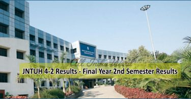 JNTUH 4-2 Results - Final Year 2nd Semester Results