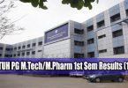 JNTUH PG M.Tech M.Pharm 1st Sem Results (1-1)