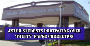 JNTUH Students Protesting Over 'Faulty' Paper Correction